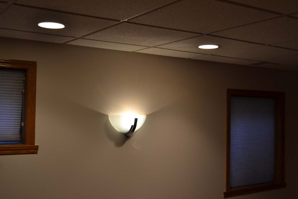 Recessed lighting ceiling fans