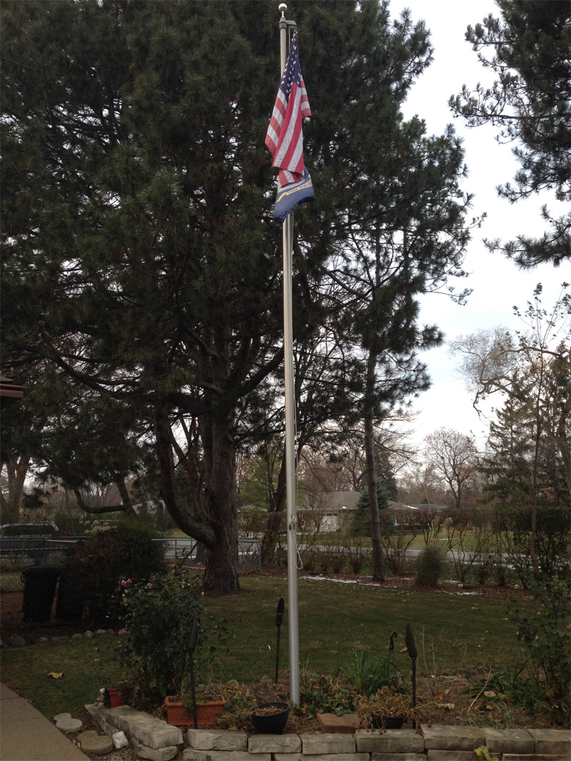 Did you know? If you have a flagpole, it must be well lit at night.