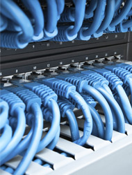 A neat and clean patch panel.