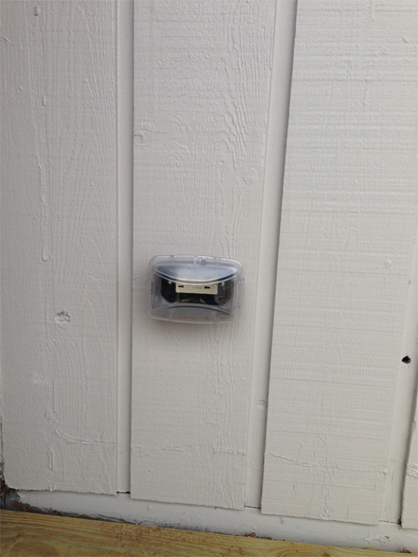 New outdoor GFCI outlet that was put in as a new opening